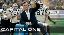Capital One 'Football Ride' <br> Production Company Tool of North America | Director Erich Joiner <br>Jeff Sanders Football Coordinator + Athlete Casting <br>Football Uniforms + Equipment provided by Hollywood Football Productions<br> CLICK VIDEO TO PLAY