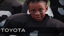 Toyota (Superbowl 2019) Featuring Antoinette Harris<br /> Production Company Pytka Productions | Director Joe Pytka<br /> Jeff Sanders Stunt Coordinator & Athlete Casting // burrell company